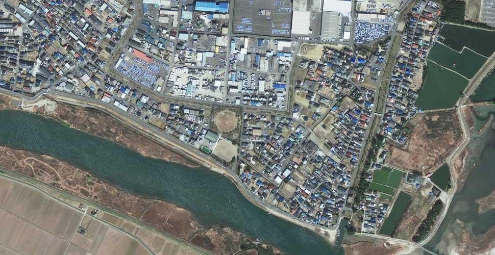 imagen geo eye terremoto tsunami sendai satelite antes