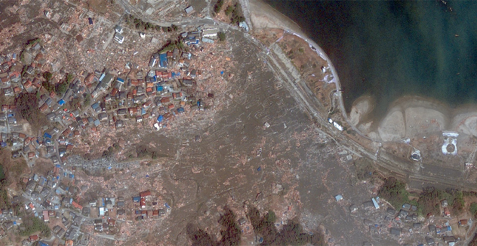imagen geo eye terremoto tsunami sendai satelite despues