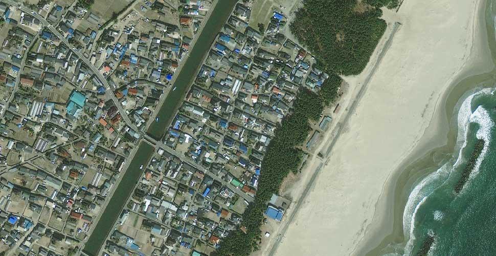 imagen geoeye terremoto tsunami arahama sendai satelite antes