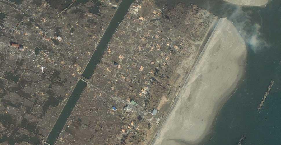 imagen geoeye terremoto tsunami arahama sendai satelite despues