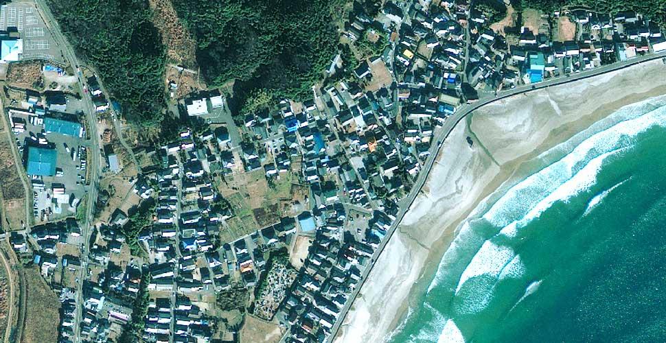 imagen geoeye terremoto tsunami iwaki satelite antes