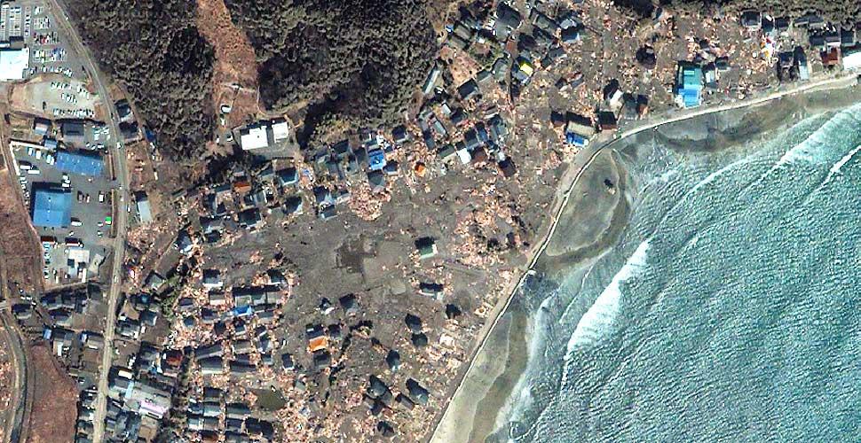 imagen geoeye terremoto tsunami iwaki satelite despues