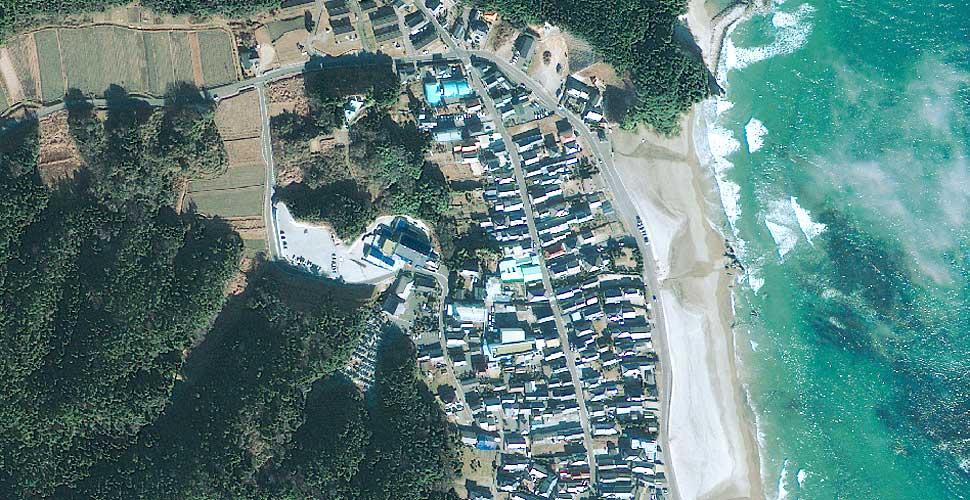 imagen geoeye terremoto tsunami iwaki vista satelite antes
