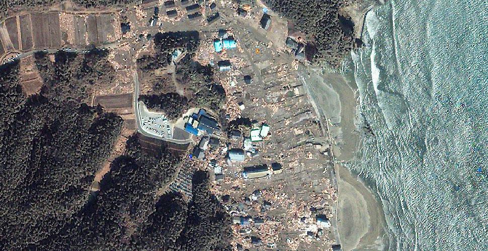 imagen geoeye terremoto tsunami iwaki vista satelite despues