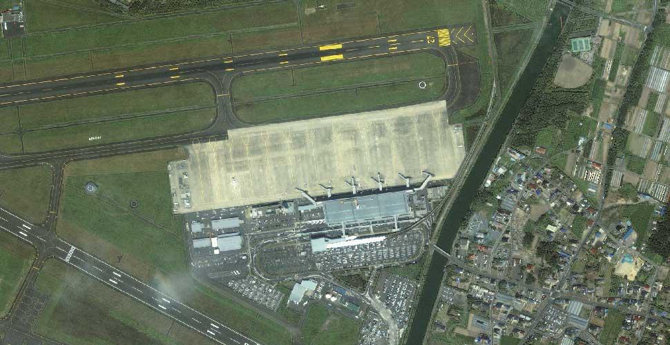 imagen geoeye terremoto tsunami sendai aeropuerto satelite antes