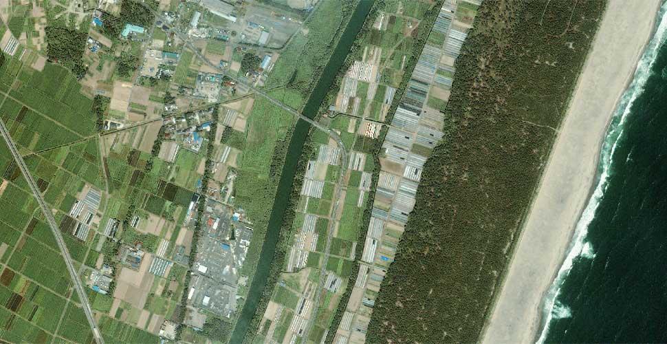 imagen geoeye terremoto tsunami sendai japon satelite antes
