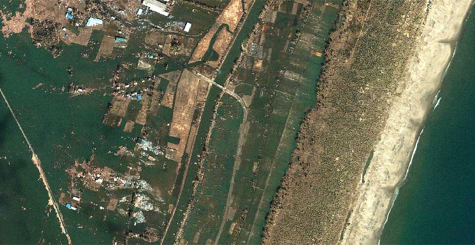 imagen geoeye terremoto tsunami sendai japon satelite despues