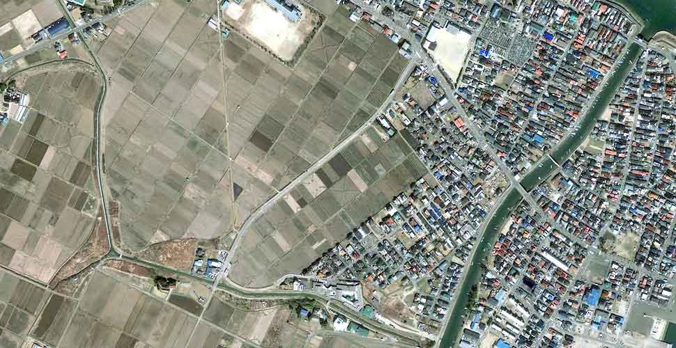 imagen geoeye terremoto tsunami sendai natori satelite antes
