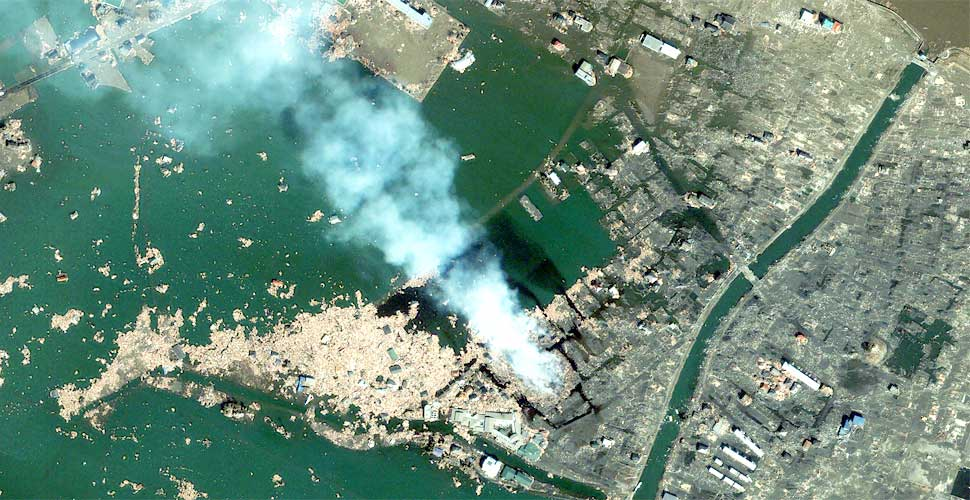 imagen geoeye terremoto tsunami sendai natori satelite despues