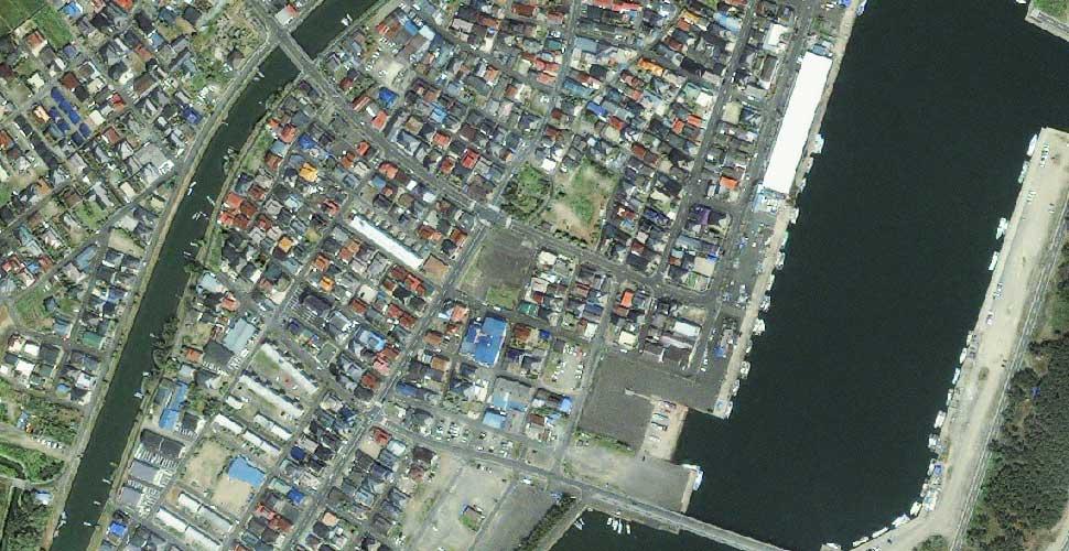 imagen geoeye terremoto tsunami sendai yuriage satelite antes