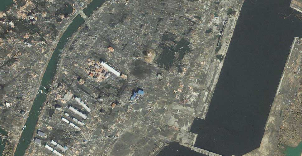 imagen geoeye terremoto tsunami sendai yuriage satelite despues