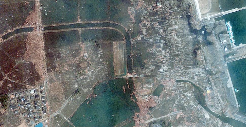 imagen terremoto tsunami costa sendai satelite despues