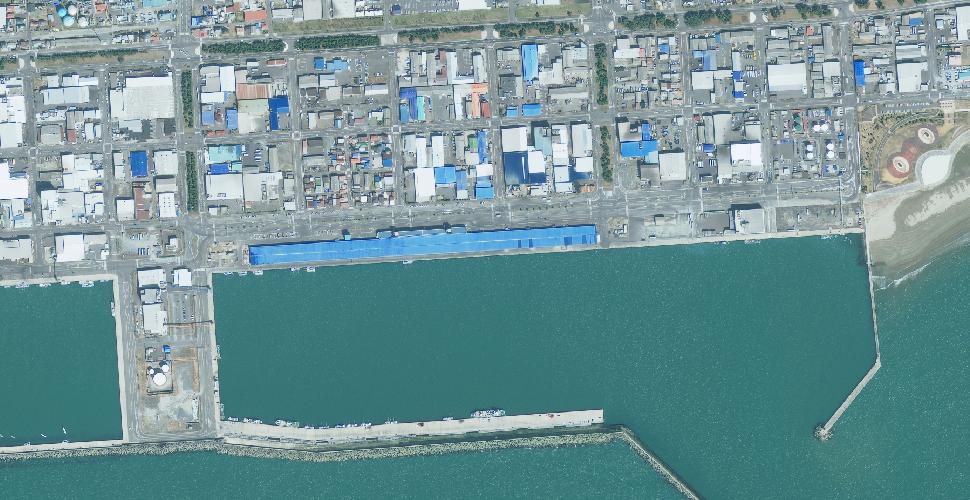 imagen terremoto tsunami norte sendai ishinomaki satelite antes
