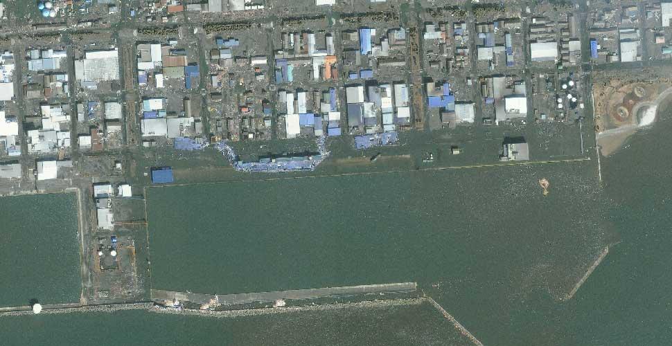 imagen terremoto tsunami norte sendai ishinomaki satelite despues