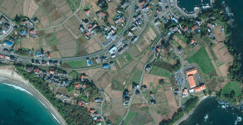 imagen terremoto tsunami norte sendai satelite antes