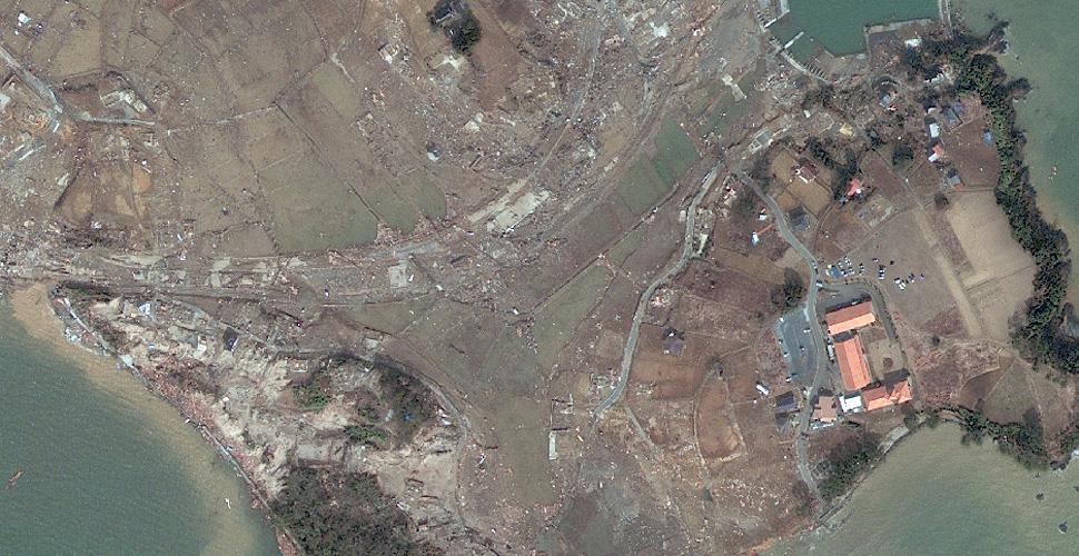 imagen terremoto tsunami norte sendai satelite despues