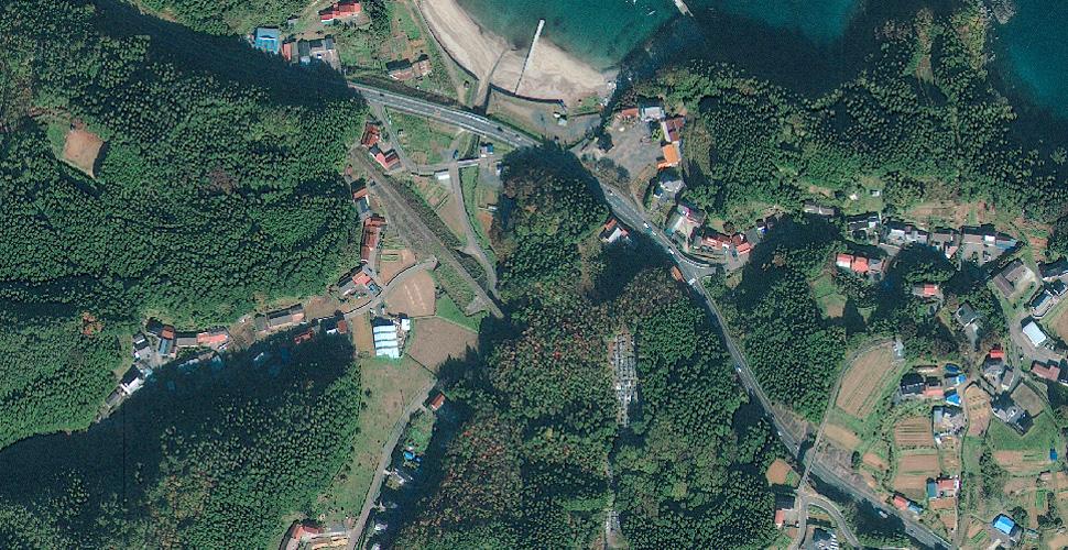 imagen terremoto tsunami norte sendai vista satelite antes