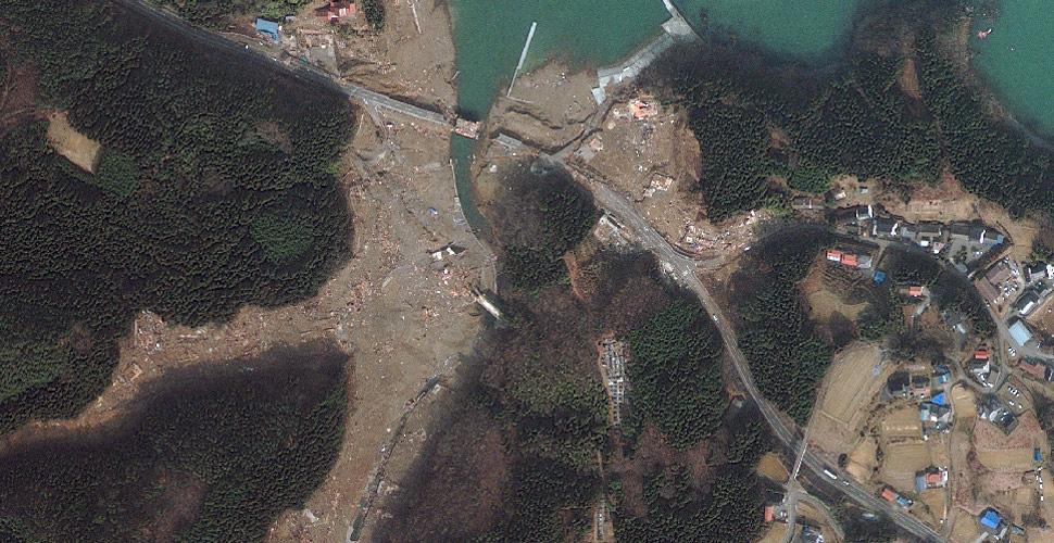 imagen terremoto tsunami norte sendai vista satelite despues