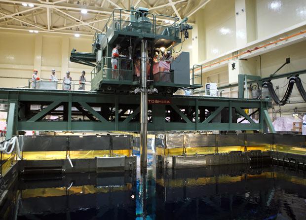 inspectores barras central nuclear fukushima