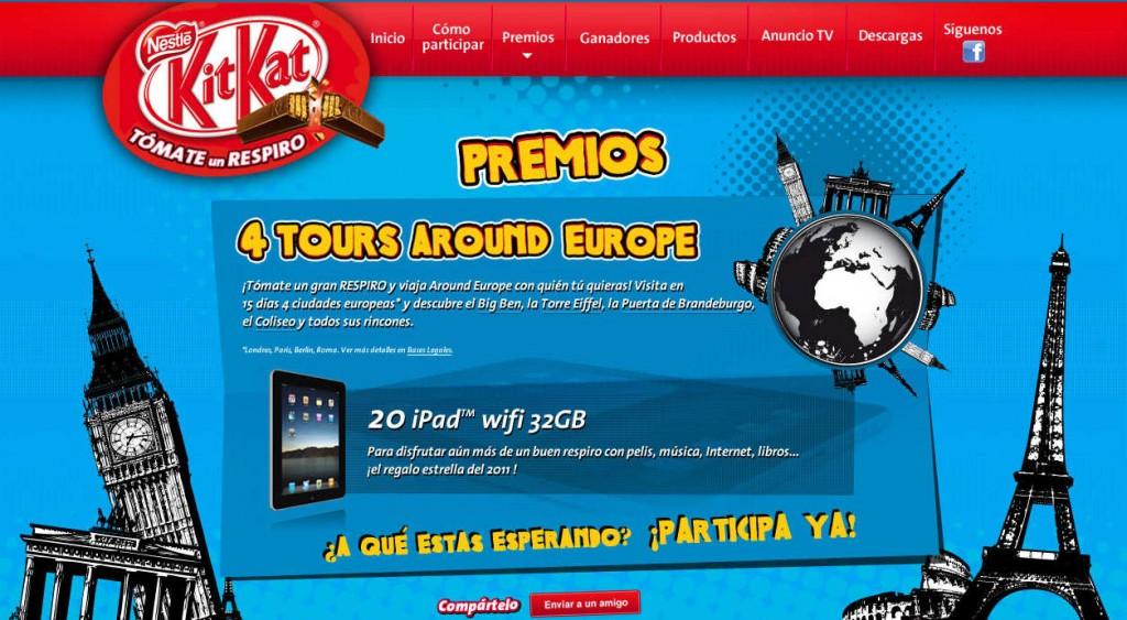 kit kat viajes europa ipad wifi 32gb premios