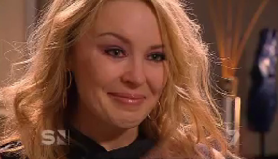 kylie minogue crying cries interview cry