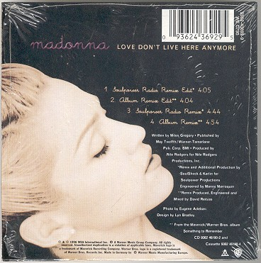 madonna love dont live here anymore alemania german cd single sencillo
