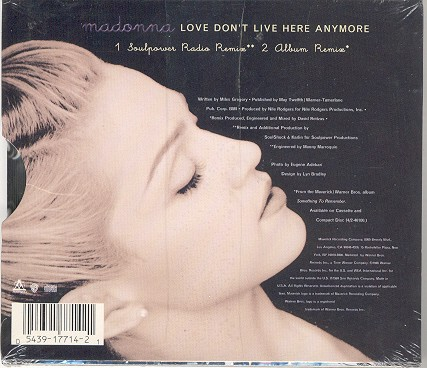 madonna love dont live here anymore usa cd single sencillo