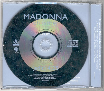 madonna oh father single sencillo CD uk reino unido promo