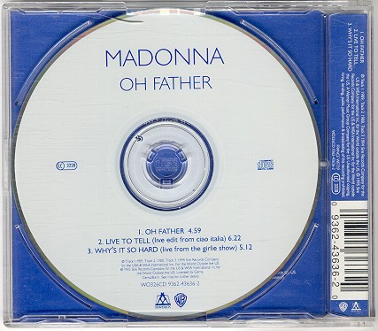 madonna oh father single sencillo alemania german CD white