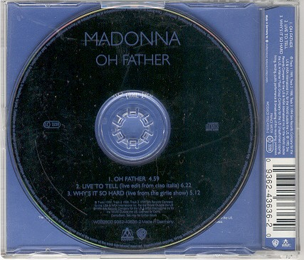 madonna oh father single sencillo alemania germany CD black