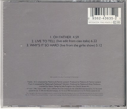 madonna oh father single sencillo reino unido uk CD