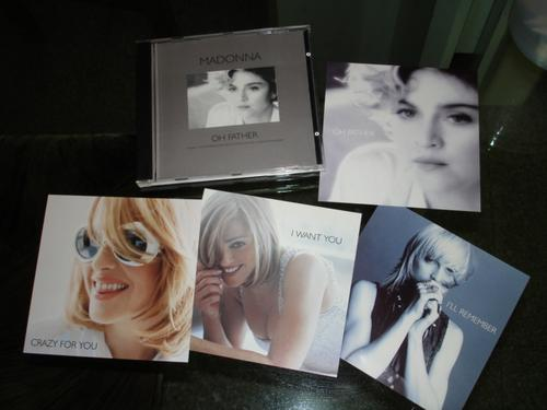 madonna oh father single sencillo reino unido uk postcards