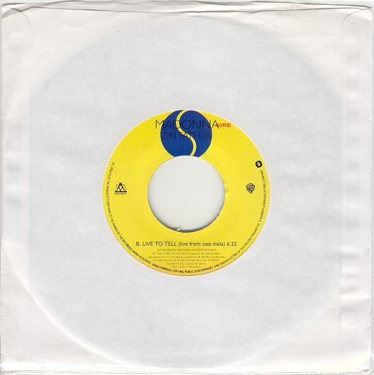 madonna oh father single sencillo reino unido uk vinyl 7 inch