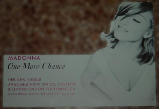 madonna one more chance poster promo