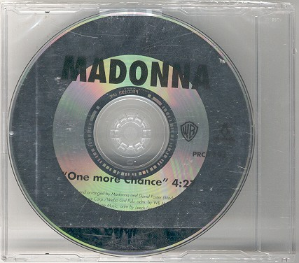 madonna one more chance single sencillo alemania germany promo