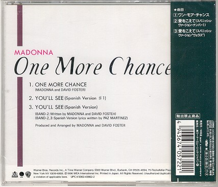 madonna one more chance single sencillo japanese japones cd