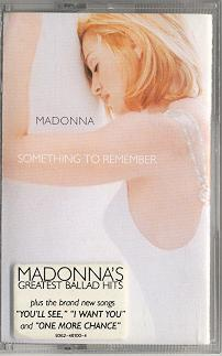 madonna something to remember cassette germany