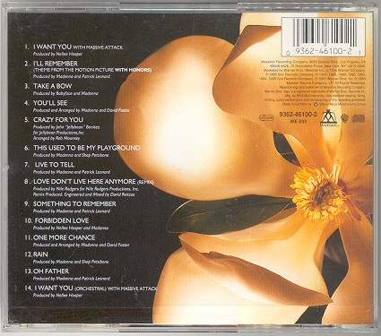 madonna something to remember cd germany