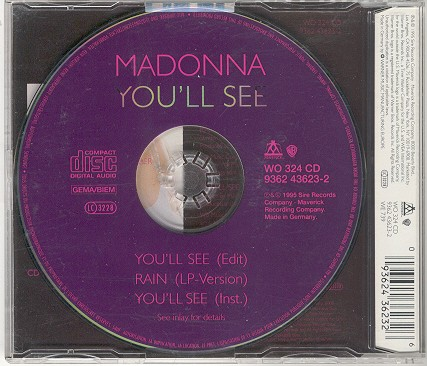 madonna you ll see alemania single sencillo germany