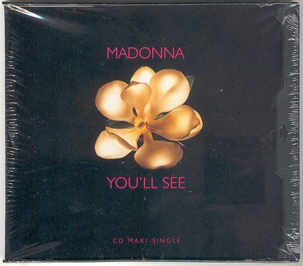 madonna youll see USA single sencillo cover