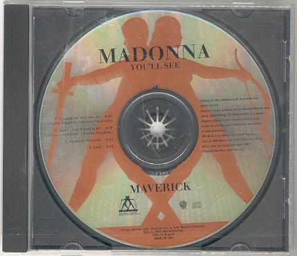 madonna youll see USA single sencillo promo