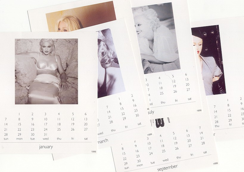 madonna youll see single sencillo Reino Unido uk calendar