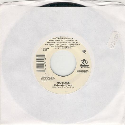 "madonna youll see single sencillo USA 7"" inch vinilo"