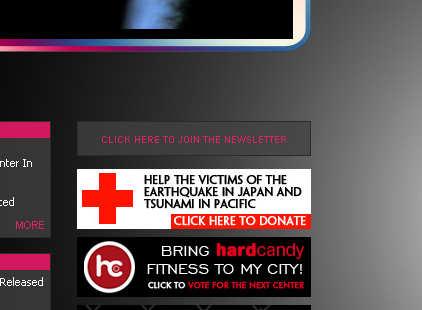 pagina oficial madonna terremoto japon