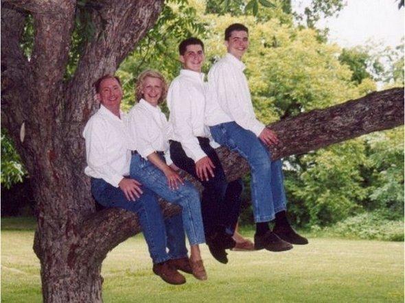 retratos familiares extraños