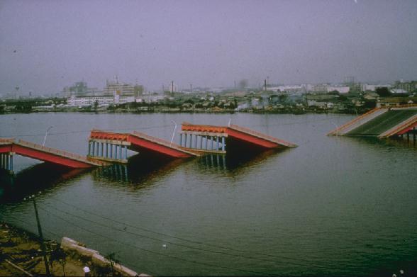 showa puente terremoto niigata japon 1964 06 16