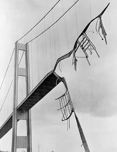 tacoma narrows derrumbe gerie puente bridge 1940