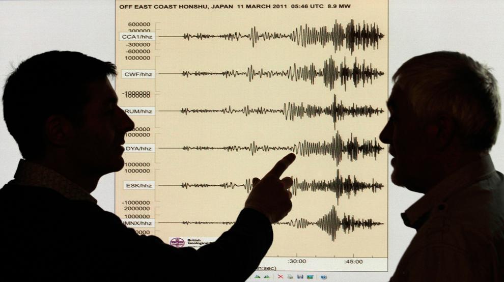terremoto japon 8.9 2011 British Geological Survey office sismografo