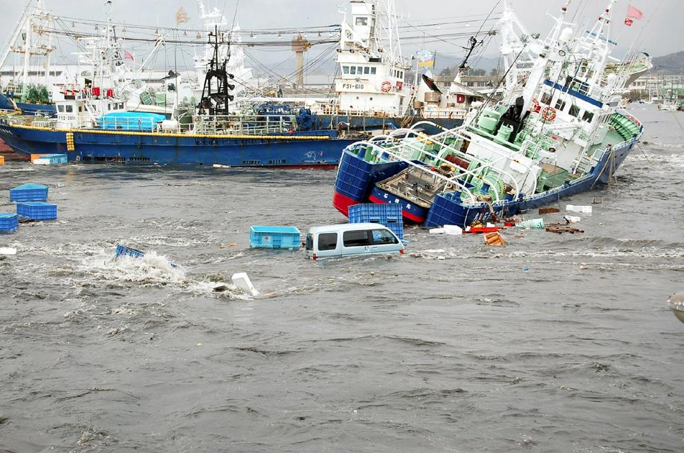 terremoto japon 8.9 2011 Onahama fukushima iwaki puerto barcos tsunami