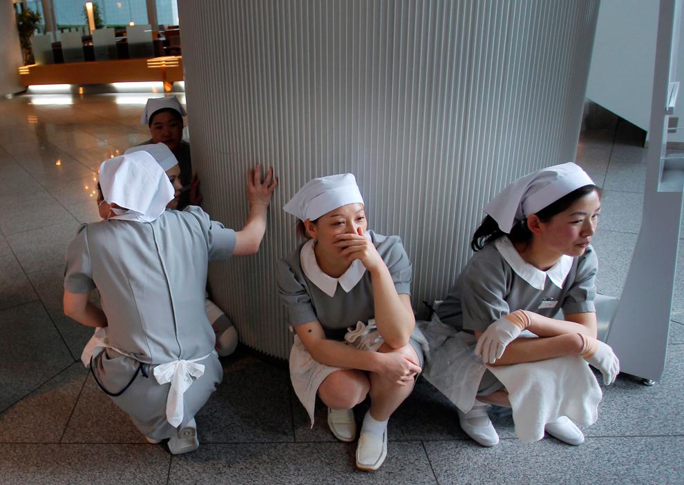 terremoto japon 8.9 2011 hotel empleadas refugiandose